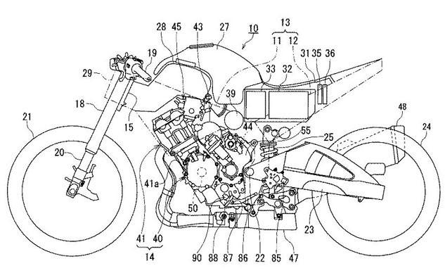 Оформлен патент на конструкцию гибридного спортбайка
