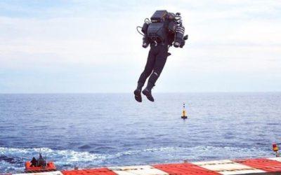 Первый полет серийного реактивного ранца JB10