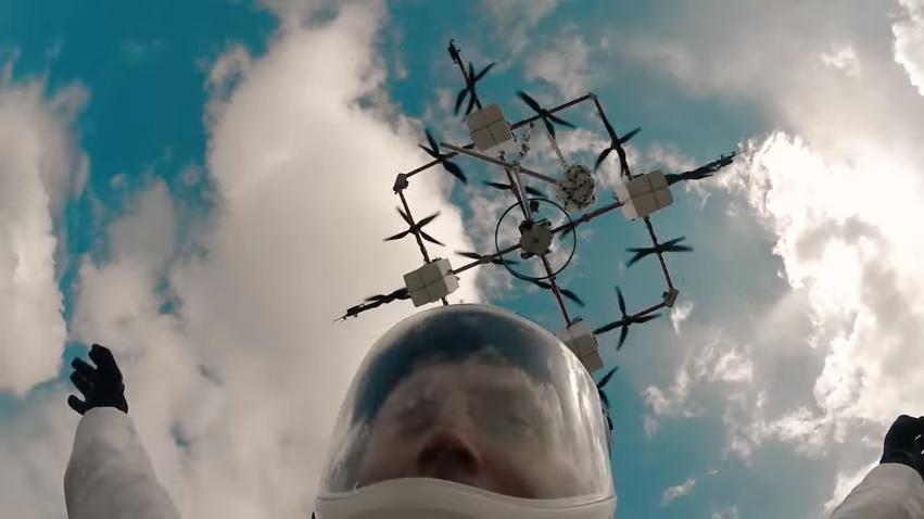 Прыжок на парашюте с дрона