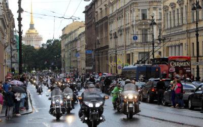 В Петербурге прошел мотопарад в рамках фестиваля St. Petersburg Harley Days