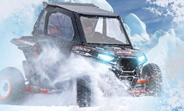 Зимняя гонка на мотовездеходах RZR Snow Cup