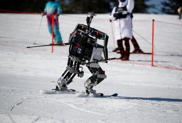 В Южной Корее состоялись соревнования роботов-лыжников
