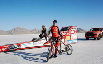 Американка побила рекорд скорости на велосипеде