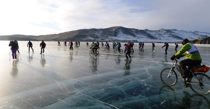 Гонка «Ледовый шторм» прошла на Байкале