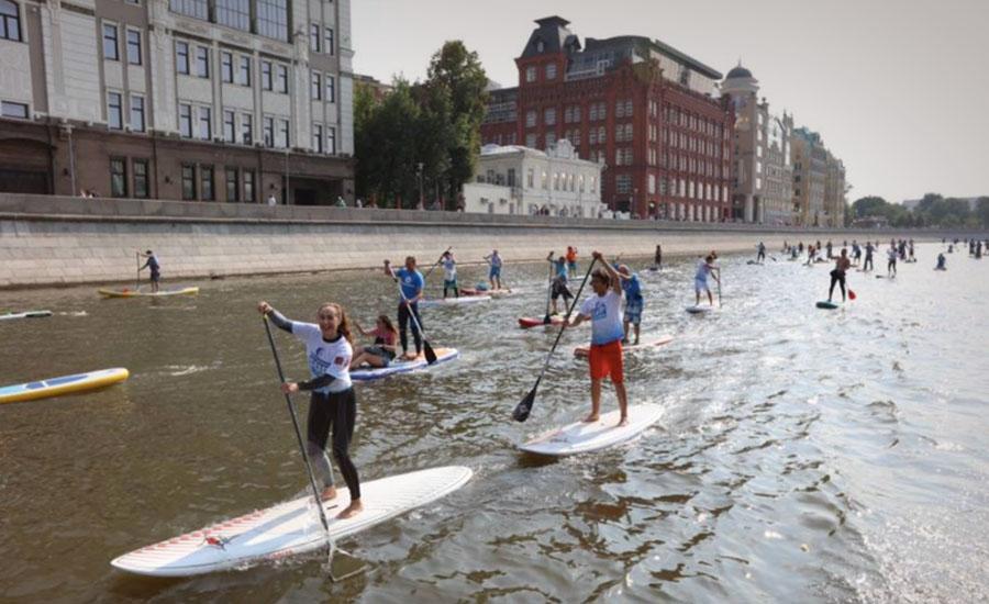 Соревнования по sup-серфингу на Москве-реке пройдут в День города