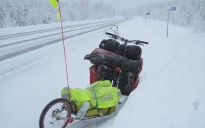 Французский путешественник приехал в Якутск на велосипеде