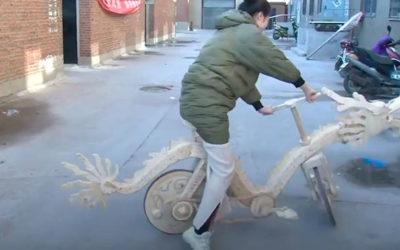 Велосипед из палочек для эскимо