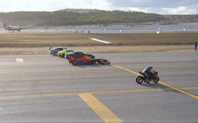 Мотоцикл обогнал самолет