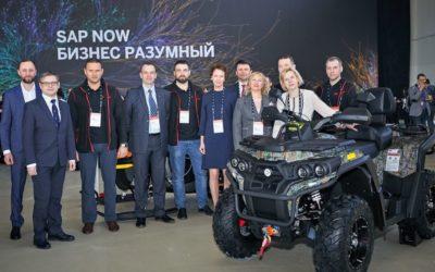 Квадроцикл «Русской механики» представили на экспозиции SAP-форум