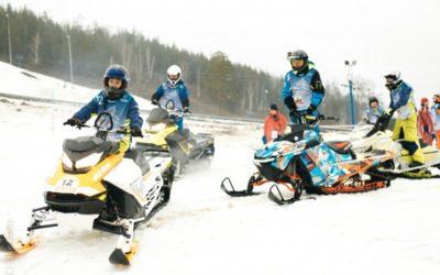 Фестиваль снегоходов прошел в Костроме