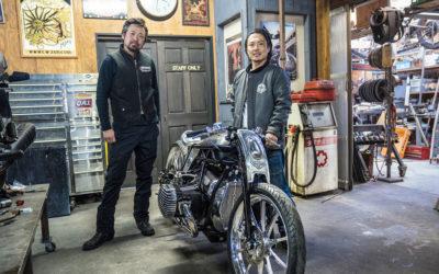 Японский кастом с прототипом нового оппозитного мотора BMW Motorrad