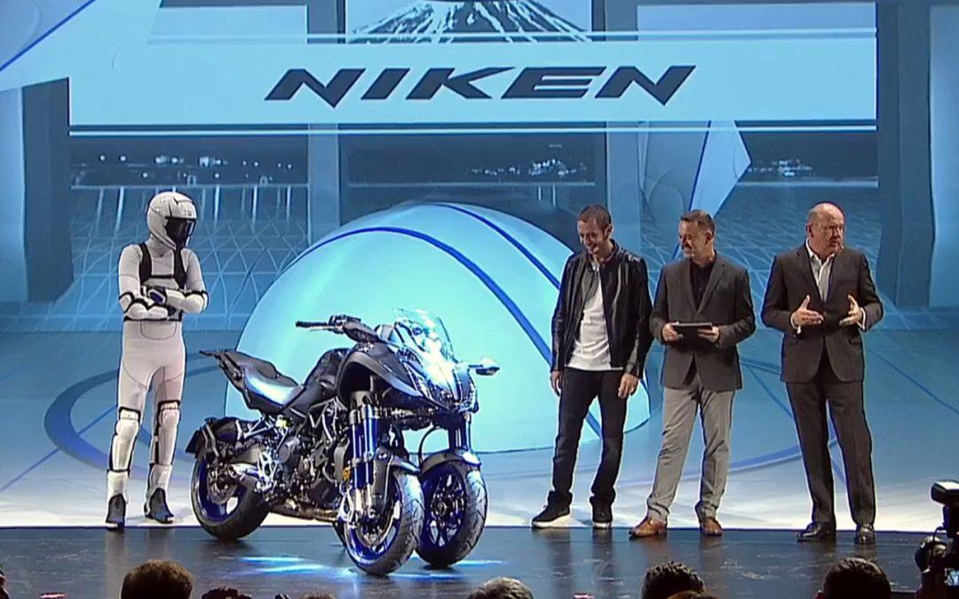 В Милане представили трехколесный мотоцикл Yamaha Niken