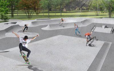 В парке 50-летия Октября в ближайшие дни появится скейт-парк площадью более 800 квадратных метров